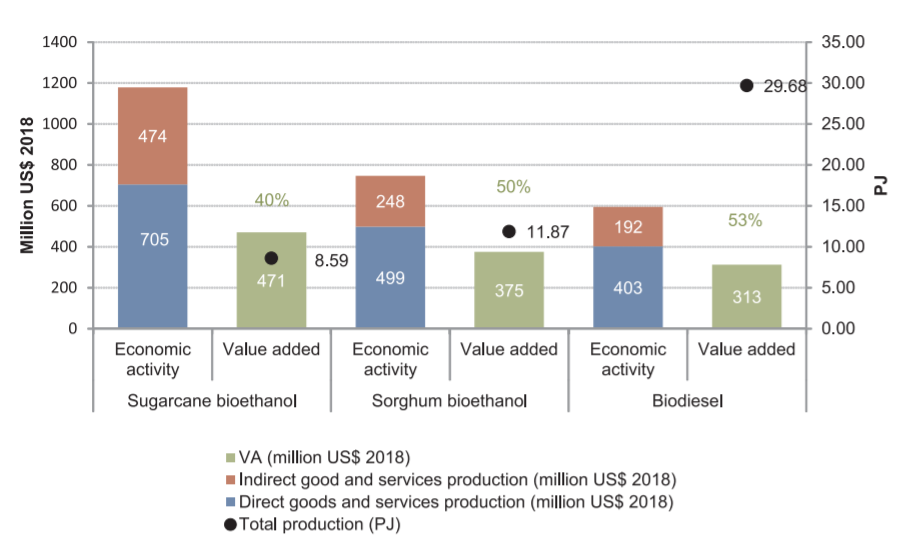 ocioeconomic implications of biofuels deployment through an Input-Output approach. A case study in Uruguay,Renewable and Sustainable Energy Reviews