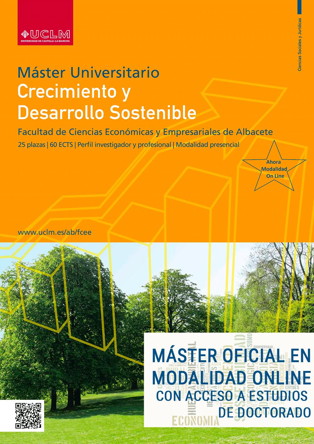 Preinscripción Máster Universitario en Crecimiento y Desarrollo Sostenible de la UCLM
