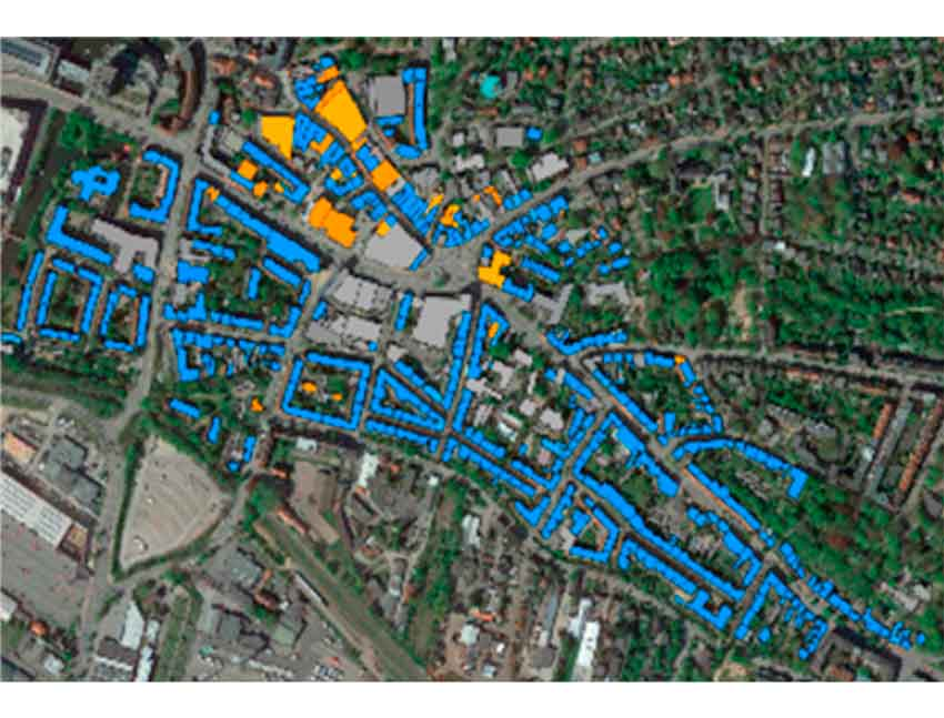 Sensitivity assessment of a district energy assessment characterisation model based on cadastral data.