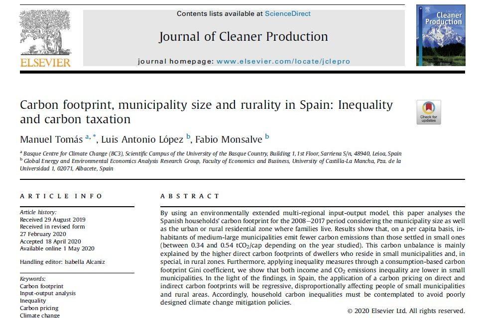 Publicación reciente del grupo GEAR en el Journal of Cleaner Production