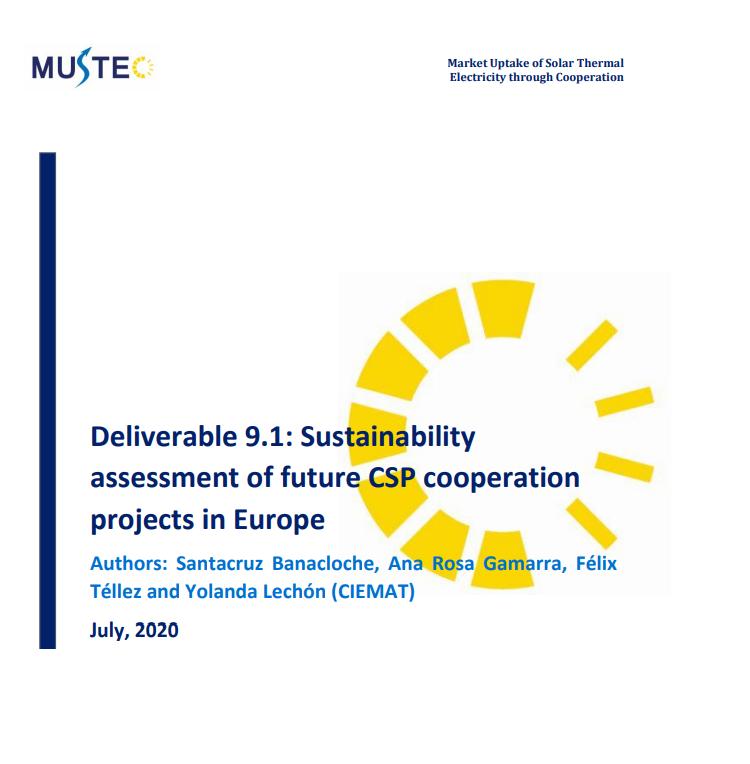 Publicado el Informe de sostenibilidad de la futura cooperación de proyectos termosolares en Europa