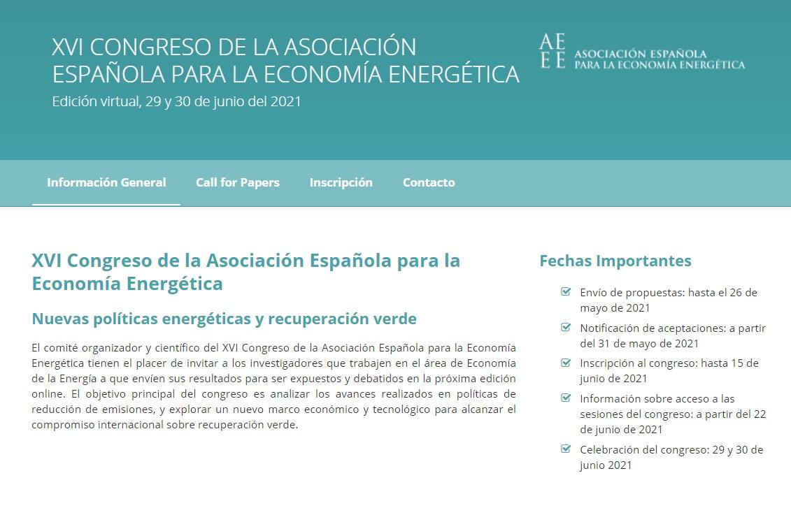 XVI Congreso de la AEEE